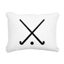 Crossed Field hockey clu Rectangular Canvas Pillow