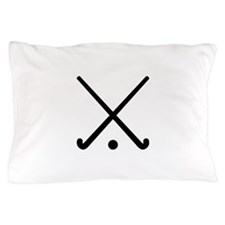 Crossed Field hockey clubs Pillow Case