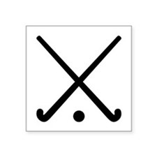 "Crossed Field hockey clubs Square Sticker 3"" x 3"""