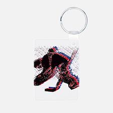 Hockey Goaler Keychains
