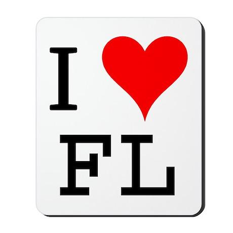 I Love FL Mousepad