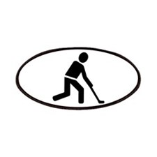 Field hockey player symbol Patches