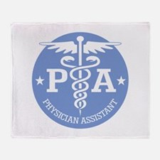 Caduceus PA (rd) Throw Blanket