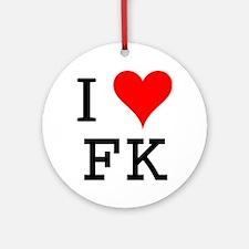 I Love FK Ornament (Round)