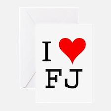I Love FJ Greeting Cards (Pk of 10)