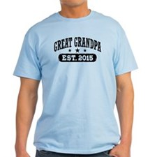 Great Grandpa Est. 2015 T-Shirt