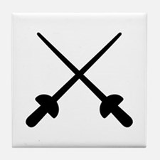Fencing crossed epee Tile Coaster