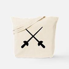 Fencing crossed epee Tote Bag