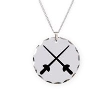Fencing crossed epee Necklace