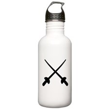 Fencing crossed epee Water Bottle