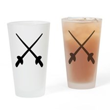 Fencing crossed epee Drinking Glass