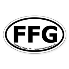 "Fairfield Glade, TN oval sticker ""FFG"""