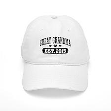 Great Grandma Est. 2015 Baseball Baseball Cap