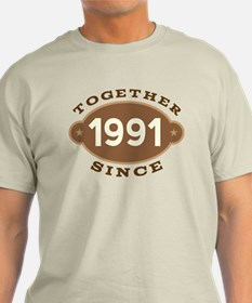 1991 Wedding Anniversary T-Shirt
