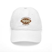 1990 Wedding Anniversary Cap