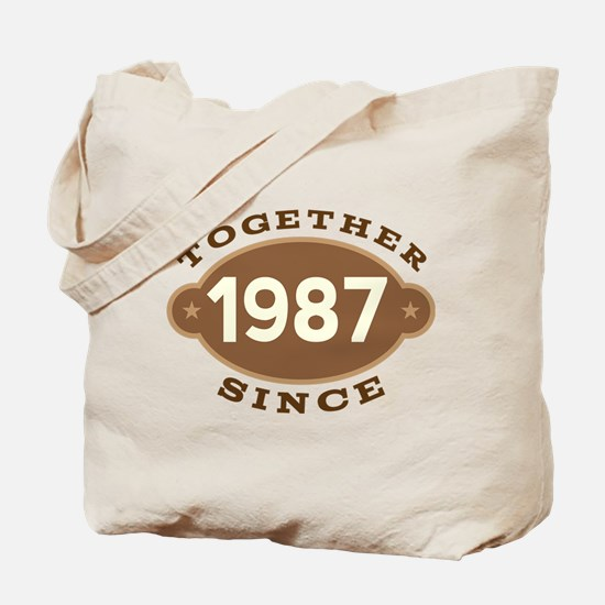 1987 Wedding Anniversary Tote Bag