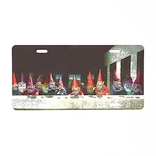 Gnome Last Supper Aluminum License Plate