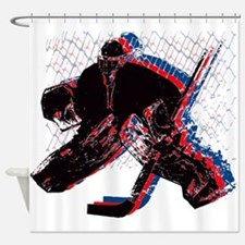 Hockey Goaler Shower Curtain