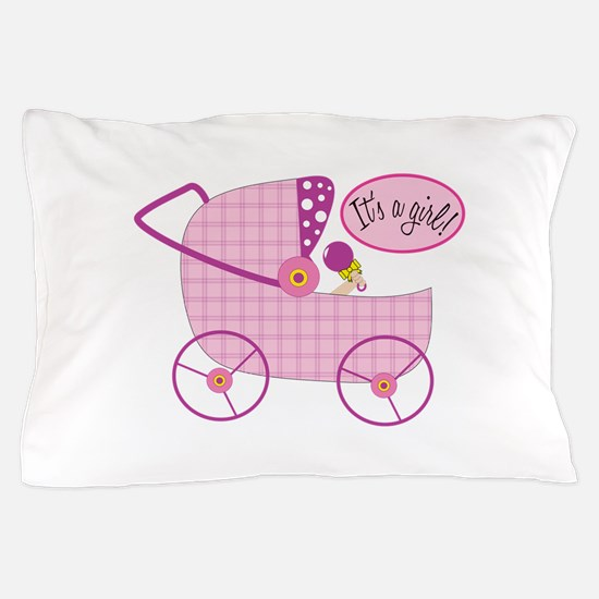 Its A Girl! Pillow Case