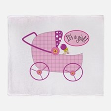 Its A Girl! Throw Blanket