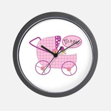 Its A Girl! Wall Clock