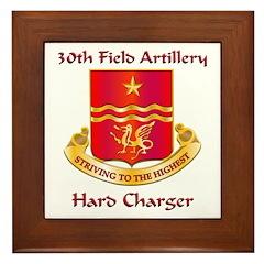 30th Field Artillery Framed Tile