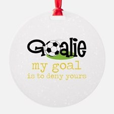My Goal Is To Deny Yours Ornament