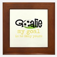 My Goal Is To Deny Yours Framed Tile