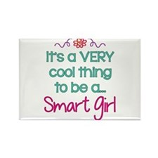Cool to be a Smart Girl Rectangle Magnet (10 pack)