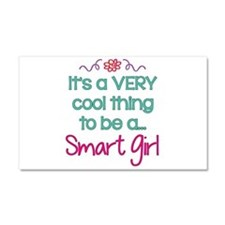 Cool to be a Smart Girl Car Magnet 20 x 12