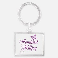 Feminist Killjoy - purple design Keychains