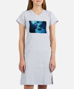 Underwater Blue World Fish Scuba Diver Women's Nig