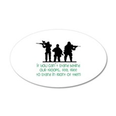 Our Troops Wall Decal