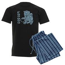 Foo Dog Blue Pajamas