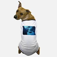 Underwater Blue World Fish Scuba Diver Dog T-Shirt
