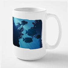 Underwater Blue World Fish Scuba Diver Mugs