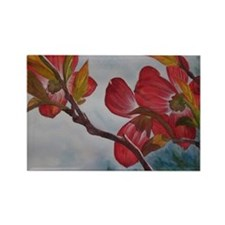 Dogwood Flower Rectangle Magnet