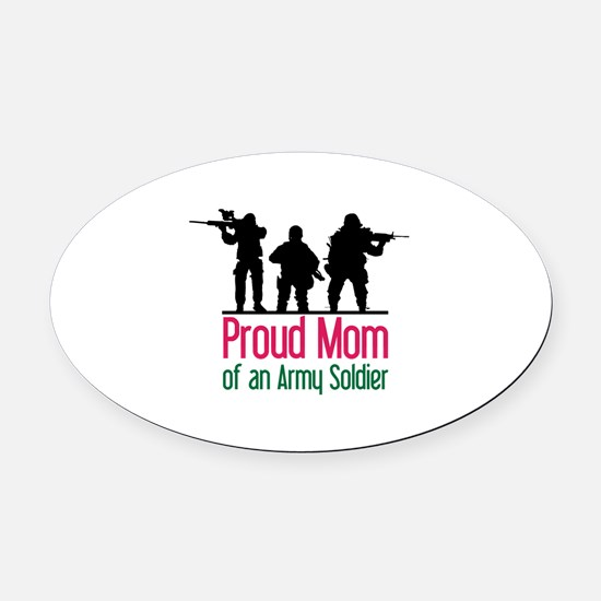 Proud Mom Oval Car Magnet
