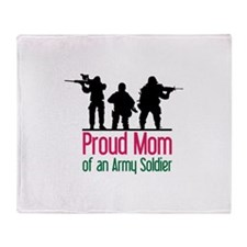 Proud Mom Throw Blanket