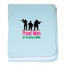 Proud Mom baby blanket
