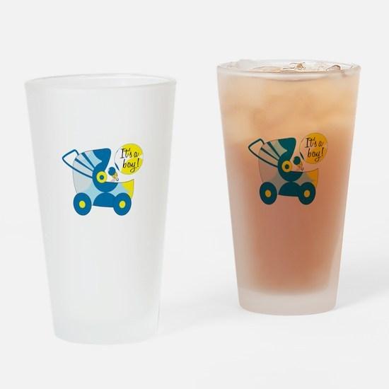Its A Boy! Drinking Glass