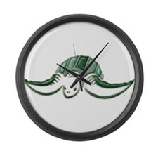 Diving Green Sea Turtle Large Wall Clock