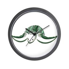 Diving Green Sea Turtle Wall Clock