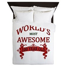 World's Most Awesome 100 Year Old Queen Duvet