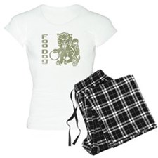 Foo Dog Olive Pajamas