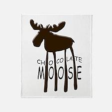 Chocolate Moose Throw Blanket