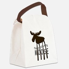 Chocolate Moose Canvas Lunch Bag