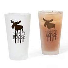 Chocolate Moose Drinking Glass