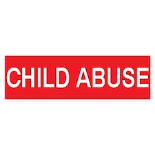 stop child abuse Bumper Bumper Sticker