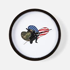 Army Heart Wall Clock